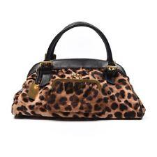 DOLCE & GABBANA Handbag Black & Brown Leopard Print Ponyhair With Purse Front