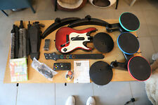 XBox 360 Guitar Hero WORLD TOUR BAND KIT complet batterie guitare micro NEUF !!!
