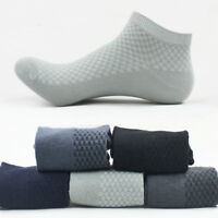 Men's Bamboo Fiber Socks Business Casual Toe Boot Cotton Work Stockings Socks