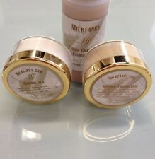 Liquid Mineral Foundation , Powder And Veil with infused organic goat milk