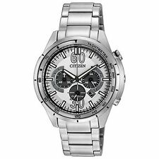 Citizen Eco-Drive Men's CA4121-57A HTM Chronograph White Dial 44mm Sport Watch