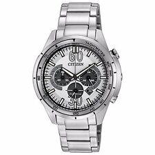 Citizen Eco-Drive Men's CA4121-57A HTM Chronograph White Dial 44mm Sport Watch