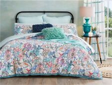 Morgan & Finch Mari Floral Birds Quilted Double Quilt Cover Set PLUS Pillows
