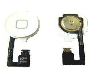 IPhone 4 4G Internal + External Home Menu Middle Button Flex Replacement  White