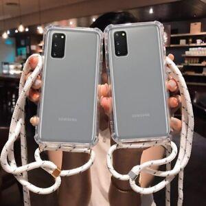 Funda Antigolpes Con Cordón Para Samsung Galaxy A01 A11 A21s A31 A41 A51 A71