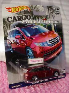 '14 HONDA ODYSSEY #5☆Red minivan; rr☆2018 Hot Wheels CAR CULTURE CARGO&CARRIERS