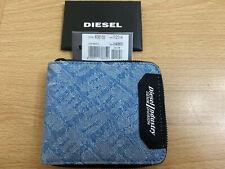 Diesel Zippy Hiresh S compacto Zip-Alrededor Cartera-Denim BNWT