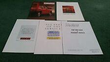 1987 / 1988 FIAT UNO 60 DS DIESEL - 5 part UK BROCHURE inc ROAD TEST REPRINT