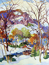 "Vintage art by Garnet Hazard ""Canadian Yuletide"""