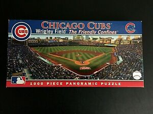 Masterpieces Chicago Cubs Baseball Wrigley Field 1000 Pc Panoramic Jigsaw Puzzle