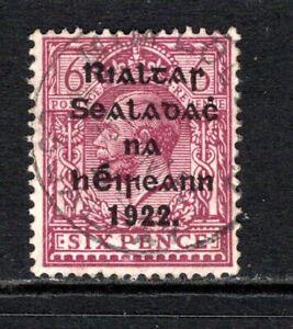 Ireland KGV 1922  6d. Reddish Purple SG39 Used Cat £8