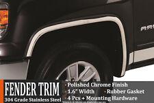 2011-2014 GMC Sierra 2500 HD Polished Stainless Steel Fender Trim Wheel Molding