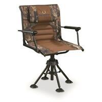 Bolderton 360 Comfort Swivel Hunting Chair w/ Armrests, Mossy Oak Break-Up CAMO