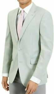 Tommy Hilfiger 44R Modern-Fit Green Chambray Sport Coats Mens 44 $295
