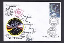 """1997 """"STS-84"""" - """"Soyuz TM-25"""". On-board envelope with autographs of the crews. R"""