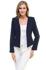 Auliné Collection Women's Candy Color Tailored Fit Open Suit Jacket Blazer