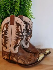 Mens Noel Made For Sendra Cowboy Western Leather Boots Size 8 cost £300 spanish