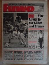 FUWO 21-25.5. 1982 ** Schweden-DDR 2:2 Erfurt-Zwickau 5:2 Lok-1.FCM 3:2 Zötzsche