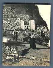 Italia, Taormina, Mola, Donna di Mola  Vintage silver print. Vintage Italy Tir