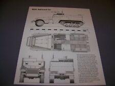 Vintage.M2A1 Half-Track & M29 Weasel C.C. . 4-Views/Details.Rare! (893G)