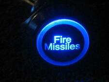 New 12V BLUE LED Fire Missiles ON / OFF Metal Switch 19mm Push Button Lighted