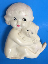 Vintage 1920s Flapper Baby & Kitty RATTLE Celluloid Hard Plastic JAPAN Ivory