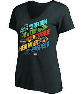 Harley-Davidson Women's Black Marvels Motorcycle T-Shirt England Size XL