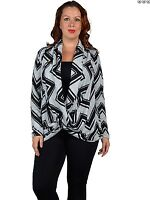 New Womens Plus size Cris Cross Drape Front Pullover Cardigan Polyester1x 2x 3x
