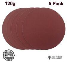 """8"""" inch Sanding Disc, 120 grit, 5 Pack, Peel & Stick, AL Oxide for Disc Sanders"""