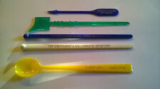 New Jersey NJ 5 Swizzle Sticks Drink Stirrers Rutherford Watchung Jersey City