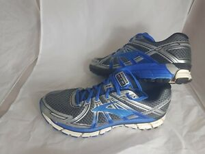 Mens Brooks GTS 17 Seventeen Blue + Silver Trainers Size UK 12, Euro 47.5, US 13