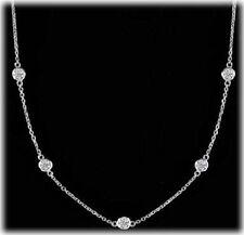 5 carat round Diamond By The Yard Platinum Necklace 22 x 0.23 ct each 36 inch