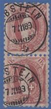 Switzerland 93 1888 1f. Perf 9.5 SG 144 Used (Cat £110) Superb Pair !