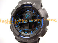 CASIO G-Shock GA100-1A2 GA-100-1A2 Ana-Digi XLarge Free Ship !