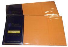SET OF 2 (PAIR) ORANGE 250 TC POLY COTTON POLYCOTTON PERCALE PILLOW CASE CASES