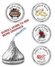 108 Personalized Wedding Bridal Shower Party Candy Favors Labels Kisses Wrappers