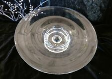 Vtg Mid-Century Modern ROSENTHAL CLASSIC Signed Crystal Centerpiece Fruit Bowl