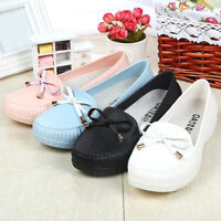 Women's Casual Flats Soft PVC Shoes Driving Loafers Lazy Moccasin Non-slip Peas