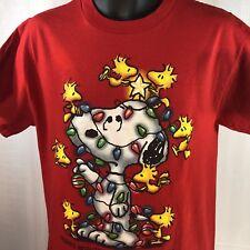Peanuts Snoopy T Shirt Medium  Christmas Friends Brighten The Holiday Season