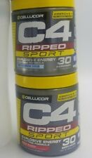 (2) Cellucor C4 Ripped Sport 30 Servings + FREE Sports Bottle