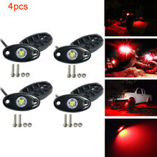 2 Pair 9W CREE LED Rock Lights RED Lamp For JEEP Offroad Truck Boat Under Body