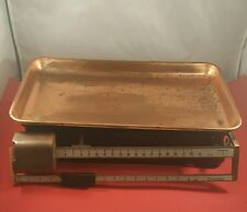 Vintage Terraillon French Copper Tray 22lb Kitchen Scales
