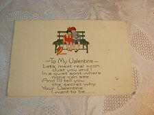 To My Valentine Vintage Card T*