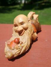 Anri Italy Wood Carving Little Folks Of The Salvans The Meditator Gnome Troll