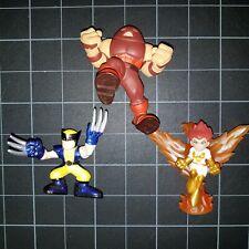 Superhero Squad SHS Lot 3 Juggernaut Gold/White Phoenix & Blue Yellow Wolverine