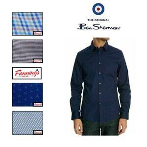 "SALE!  Ben Sherman Men's ""Tailoring"" Stretch Long Sleeve Button Up Shirt - H52"