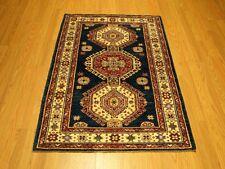 3 x 4.2 High Quality Handmade Veggie Dye Fine Wool Afghan Caucasian Kazak Rug