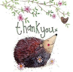 Alex Clark | Thank You | Hedgehog Large Sparkle | Greetings Card