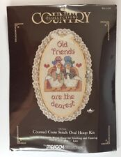 Old Friends Are the Dearest Counted Cross Stitch Oval Hoop Kit 2439 Country Coll