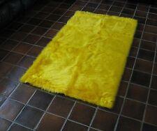CANARY YELLOW Flokati Faux Fur Rug  soft plush 3' x 5'